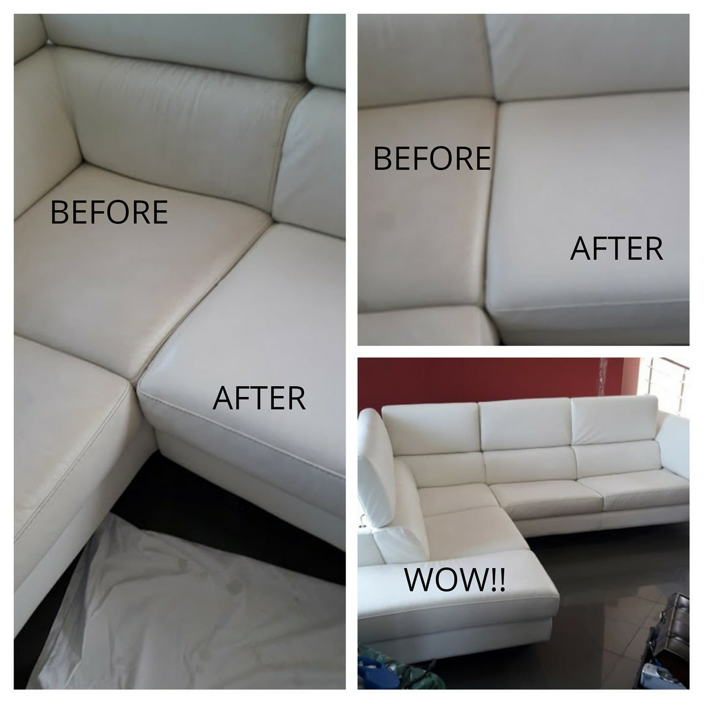 Before / After sofa